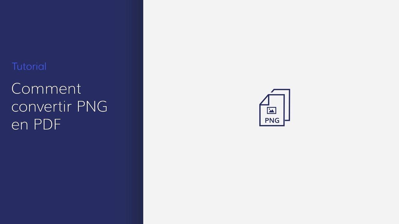 Comment Convertir Png En Fichiers Pdf Sur Windows