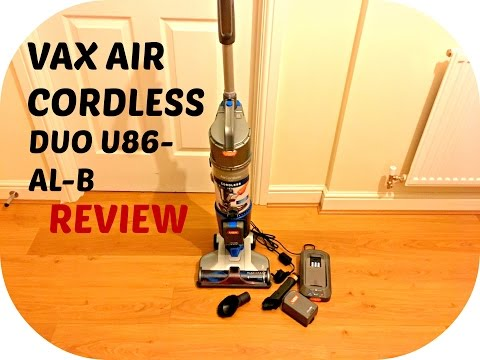 Vax Air Cordless DUO U86-AL-B Upright Vacuum Cleaner Demonstration & Review