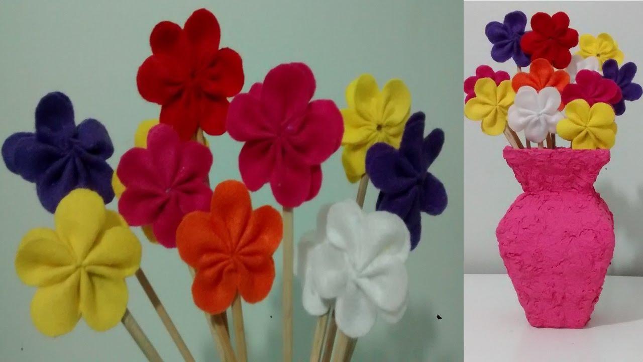 Adesivo De Gato Preto ~ Como fazer flores de feltro!!! YouTube