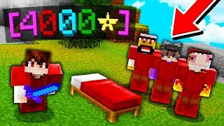 I got CARRIED by a 4,000 ⭐ STAR TEAM in Minecraft Bedwars...