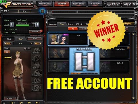 Winner Of Free Crossfire Account 2 Bar Silver With 2 Ecoin Char And Grim Reaper
