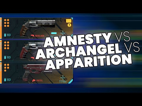 Amnesty vs Archangel vs Apparition - Cyberpunk 2077 Weapon Comparison