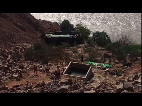 At least 35 dead in Peru bus crash