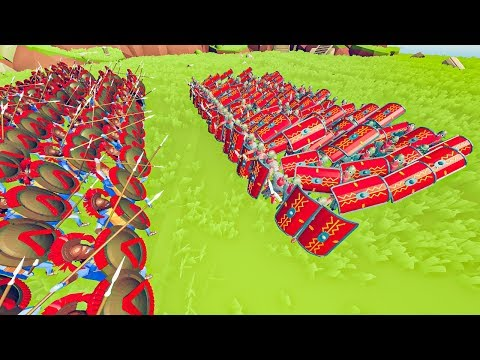 TABS  - 300 Spartans Vs TESTUDO Formation In Totally Accurate Battle Simulator!