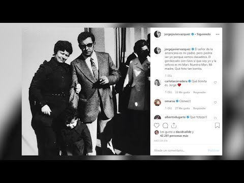 Jorge Javier Vázquez mostra imaxes da súa infancia en Instagram