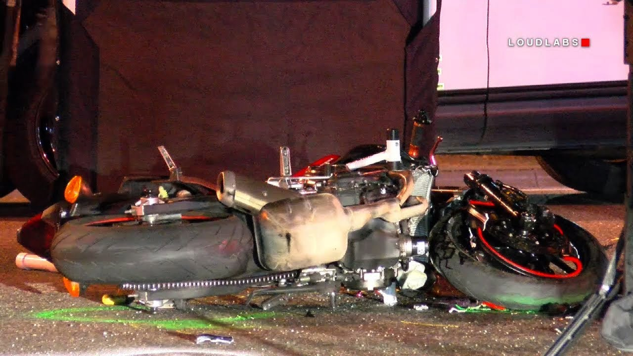 Fatal Motorcycle Crash / Riverside RAW FOOTAGE