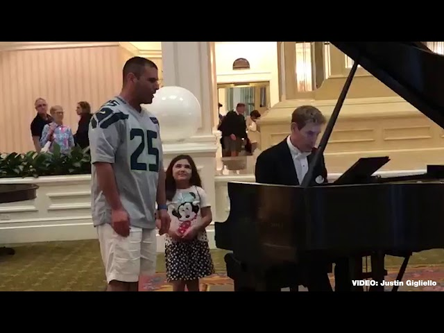 Man goes viral after video shows him singing at Disney resort