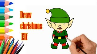 Quick Draw | How to Draw a Christmas Elf Easy Step by Step | Drawing Tutorial for Beginners