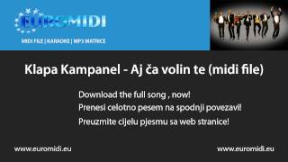 Klapa Kampanel - Aj ča volin te (midi file)