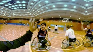 サントリー車いすバスケVR動画「ラスト1分。日本代表は君だ。」2分35秒