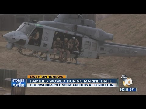 Families wowed during Marine drill