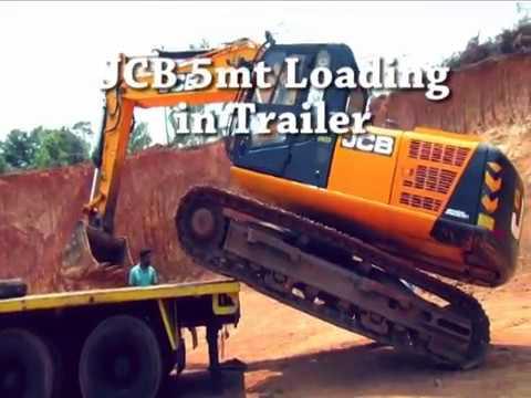 JCB Loading in Trailer