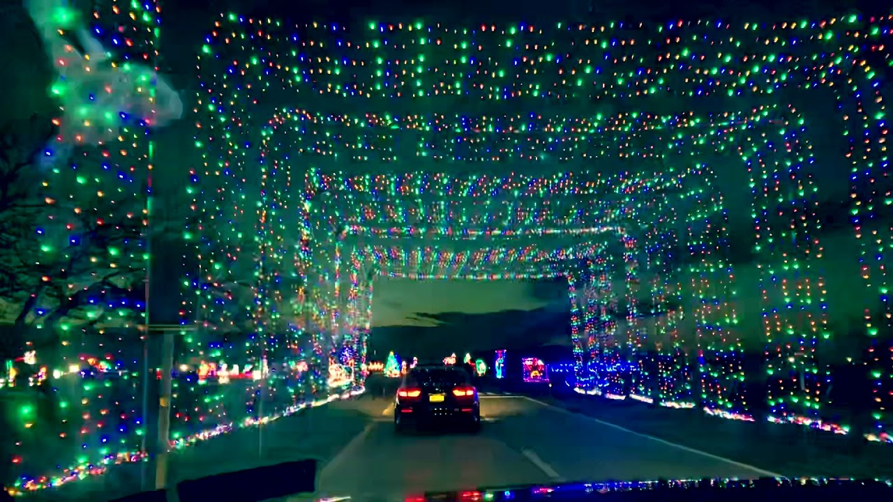 Christmas light tunnel Jones Beach NY