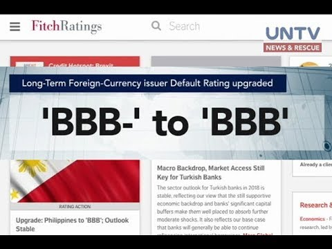 Fitch upgrades investment grade rating of the Philippines