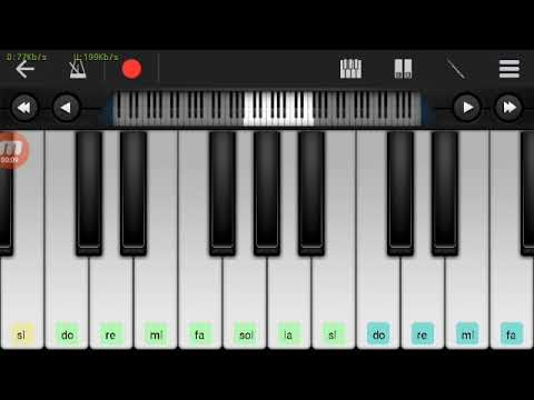 Not Piano - Mas'ud Sidik Duda ( Tutorial Piano ) Walk Band Tutorial