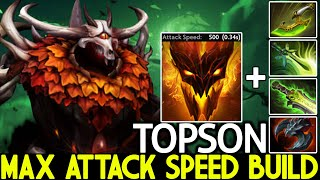 TOPSON [Shadow Fiend] Inṡane +500 Attack Speed Right Click Build Dota 2