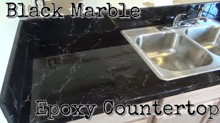 Quick, Easy, and Custom Black Marble Epoxy Countertop