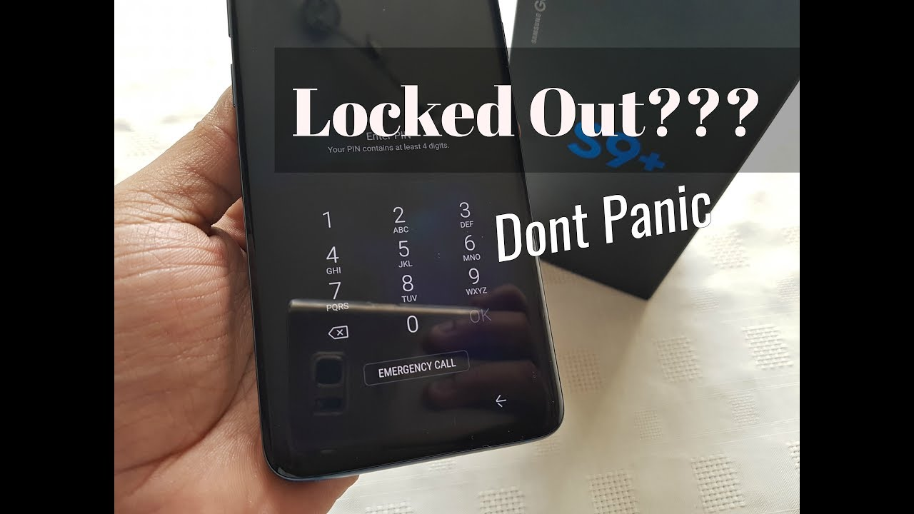samsung s9 plus forgot password
