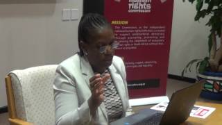 Advocacy Coordinator Joyce Tlou on the SAHRC Advocacy work