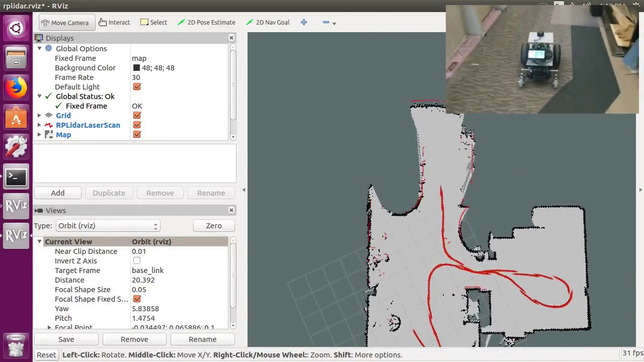 Creating a map with a 2WD Rover, an RPLidar A3, and ROS Gmapping