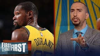 Nick and Cris react to Kevin Durant's remarks on the media & free agency | NBA | FIRST THINGS FIRST