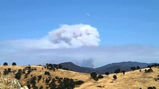 Carstens Fire Smoke observed from Lake Don Pedro
