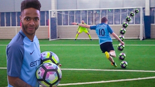 FOOTBALL CHALLENGES vs MAN CITY Video