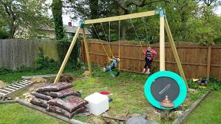 The rehab of our overgrown playground area begins. Our kids have outgrown their old swingset and after selling it, I started ...