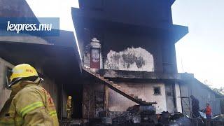 Incendie à Pailles: intervention de justesse des pompiers