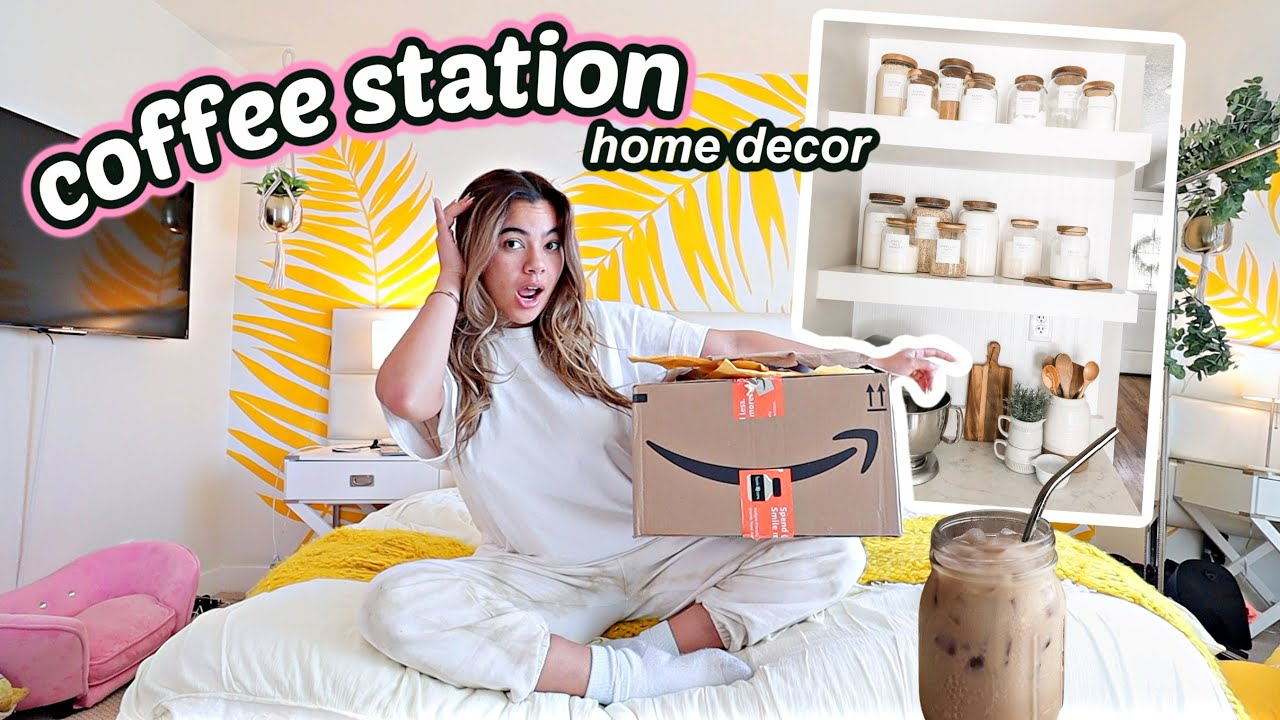 Make breakfast with me! New coffee station accessories from amazon