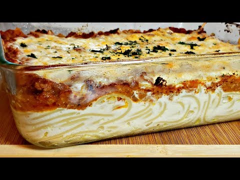Creamy Cheesy Spaghetti Bake Recipe | Easy Pasta Bake Idea