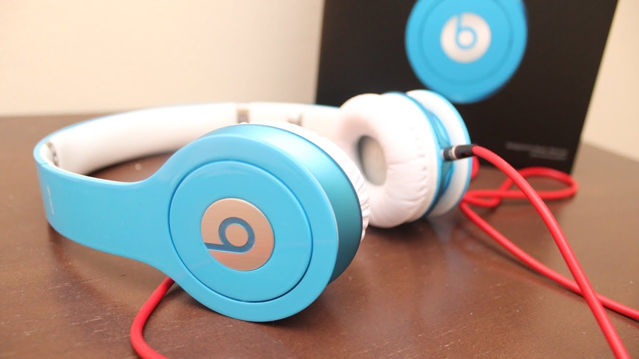 Beats by Dre Solo HD Unboxing (New Color Smartie Blue) - YouTube