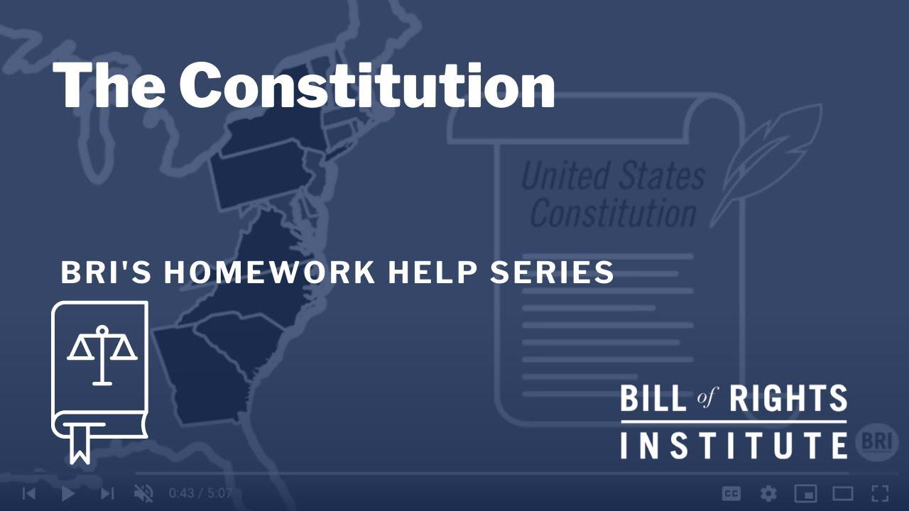 Homework help constitution