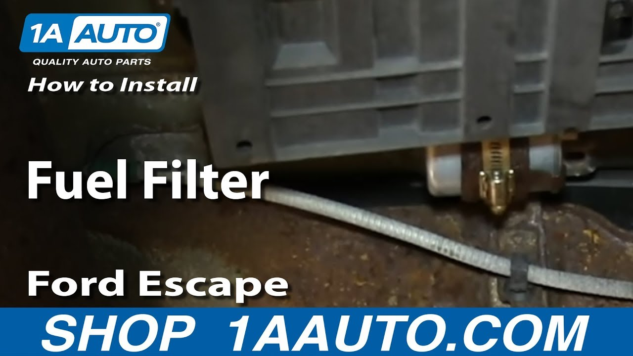 how to replace fuel filter 02 05 ford escape youtube