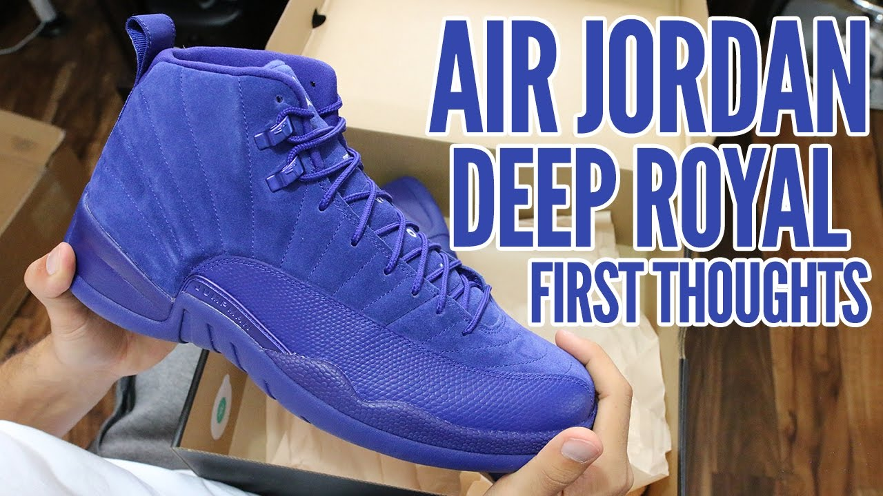 57f6f95a595 Air Jordan 12 Deep Royal 2016 First Thoughts & On Foot!!! - YouTube