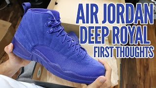 Air Jordan 12 Deep Royal 2016 First Thoughts & On Foot!!!