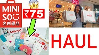 Miniso CUTE AF Stationery! Affordable Indian Haul & Review | #HeliHauls
