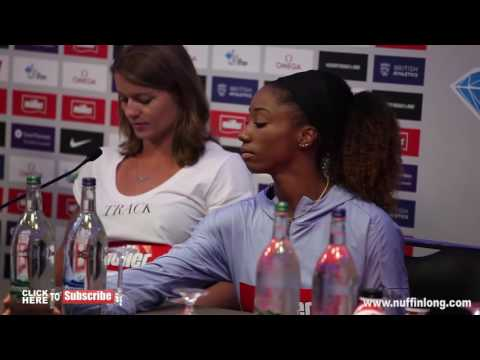 """DAFNE SCHIPPERS """" WORLD RECORDS ARE THERE TO BE BROKEN""""   Muller Anniversary Games 2016 Press Con  """