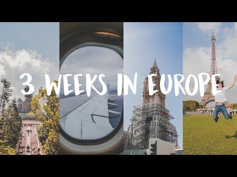 3 WEEKS in EUROPE | Cinematic Vlog | Travel Edit