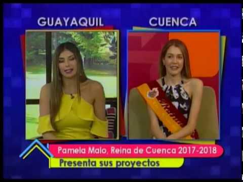 Pamela Malo, Reina de Cuenca 2017-2018 presenta sus proyectos