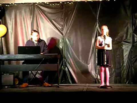 Sadye and Shane performing at Ann Arbor Learning Community School's Talent Show