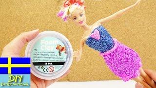 Foam Clay klänning för Barbie   1000 möjligheter   forma klädesplagg ut av modellera