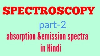 Absorption and emission spectra in Hindi
