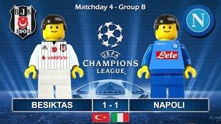 Besiktas vs Napoli 1-1 • Champions League 2017 (01/11/2016) goal highlights Lego Football