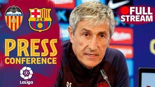 FULL STREAM: Setién's press conference before Valencia's match