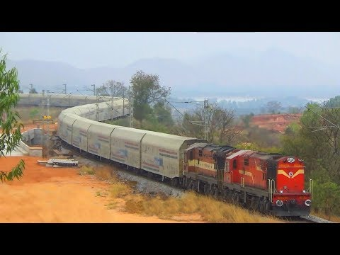 The Car Carrier || Indian Railways Double Decker Freight Wagon || Action of Twin WDM 3D Alco