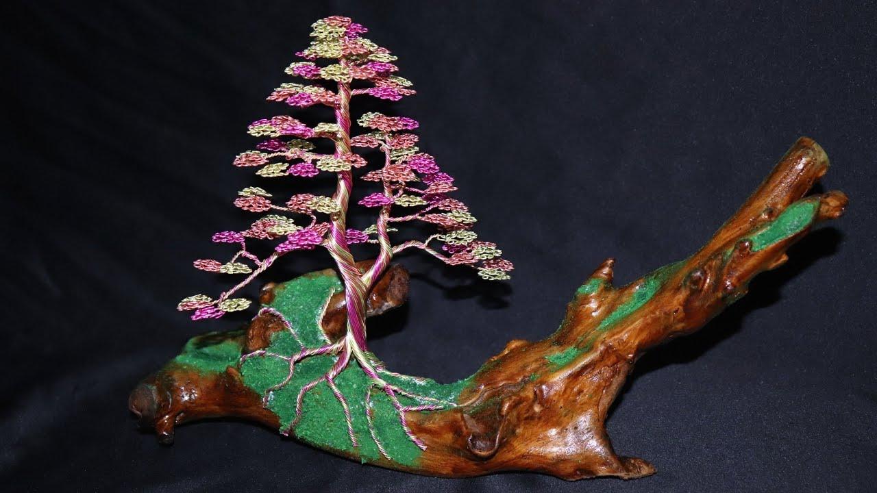 Cara Membuat Pohon Bonsai Dari Kawat dan kayu - YouTube