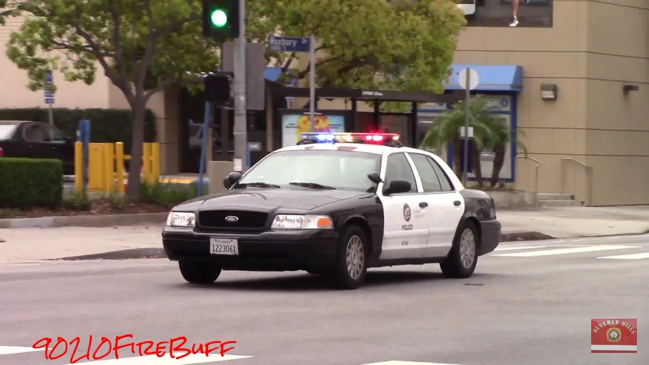 Lapd Crown Vic Responding Code 3 Youtube