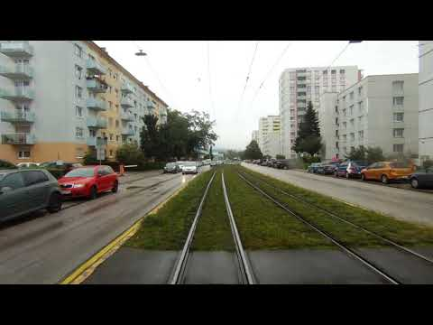 Linz Line 2- Real time rear view of track.