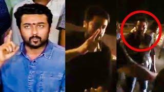 VIDEO FOOTAGE: SURIYA Blasts for Rash BIKE Riding! | Suriya's Message to his FANS! | TSK |TN732